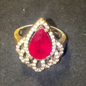 Beautiful Ruby & Sterling Silver Ring